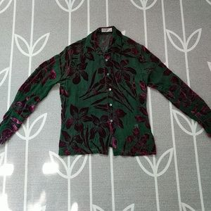 e9d923c0d98bd Equipment Tops - Equipment Velvet Burnout Silk Blouse